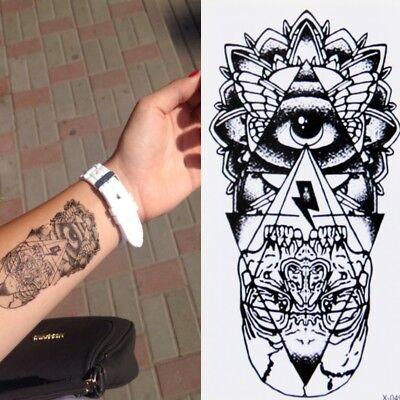 Temporäre Tattoos Totenkopf Design Pyramide Temporary Körperkunst Klebetattoo