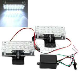 2X22-LED-White-Car-Truck-Recovery-Security-Strobe-Light