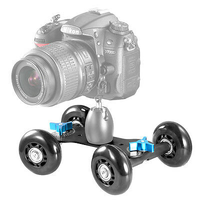Neewer Carrello Dolly Nero da Tavolo Scorrevole Slider Skater per Speedlite DSLR