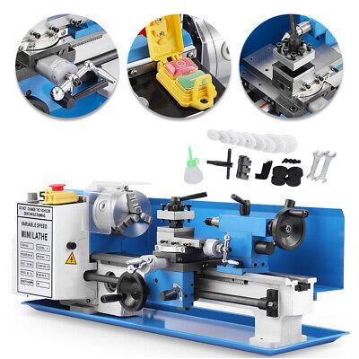 Blue Mini Lathe Metal Digital Cj18a Turning Milling 7x14 Accessory Package