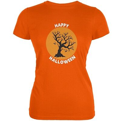 Halloween Tree Silhouette (Happy Halloween Tree Silhouette Orange Juniors Soft)
