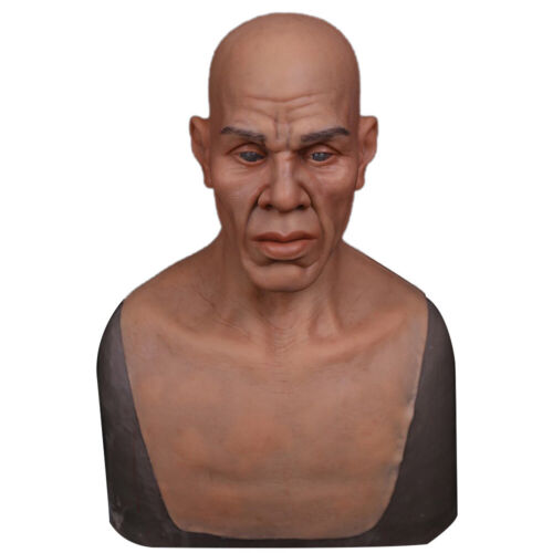 Silicone Realistic Man Face Prop Head Hoods For Cosplay Halloween Crossdresser