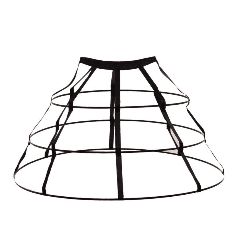 Blessume Triangular Crinoline Hoop Cage Skirt Pannier Bustle Petticoat