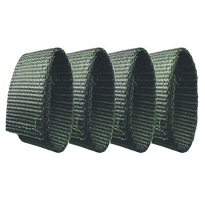 """Fusion Tactical Police Patrol Belt Keeper Strap Loop 1"""" Wide/7"""" 4PC Green"""