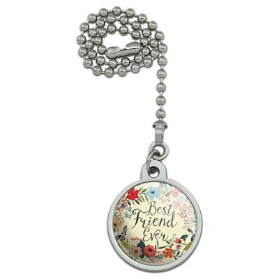 Best Friend Ever Floral Ceiling Fan and Light Pull