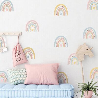 Home Decoration - 6sheets Kids Room Wall Sticker Classroom Colorful Rainbow Home Decor Window