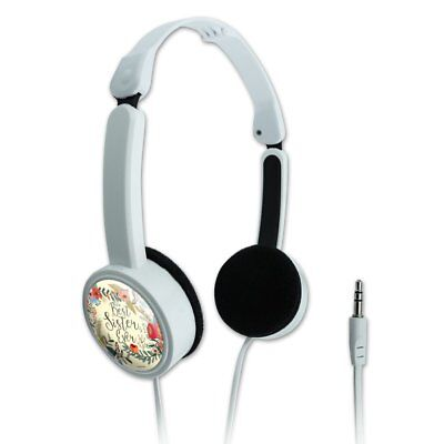 Best Sister Ever Floral Novelty Travel Portable On-Ear Foldable (Best Headphones On Ears)