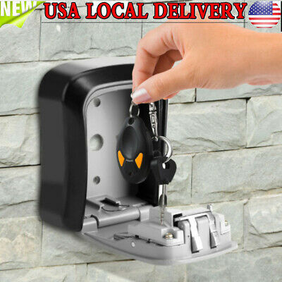 Outdoor 4 Digit Combination Key Safe Security Storage Box Lock Wall Mount Home