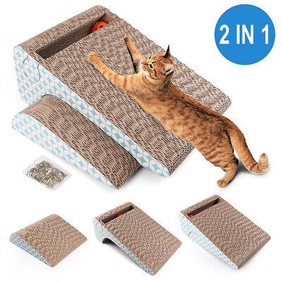 Kitty Cat Scratcher Scratching Post Cardboard Mat Bed Sofa Lounger with Catnip