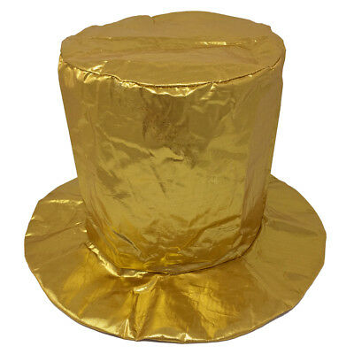 Child Shiny Gold Top Hat ~ HALLOWEEN, MARDI GRAS, NEW YEAR'S, BIRTHDAY, PARTY (Gold Top Hat)