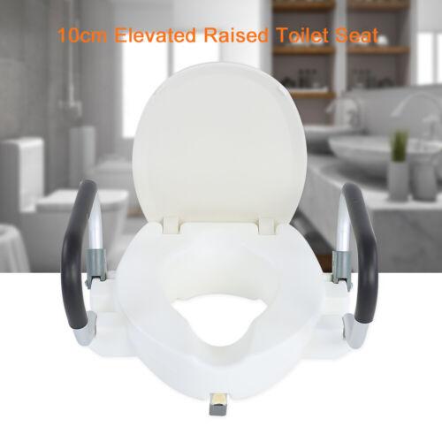 Toiletten Sitzerhöhung mit Armlehne Deckel WC Toilettenaufsatz für Senioren GOOD