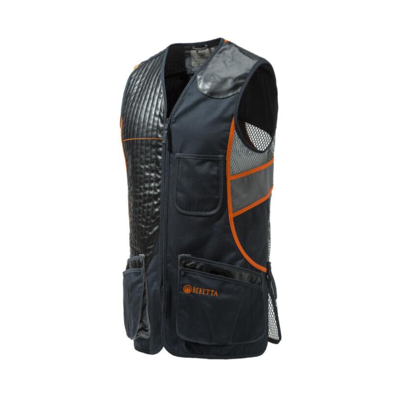 BERETTA Black/Orange Sporting Vest (GT691021130945)