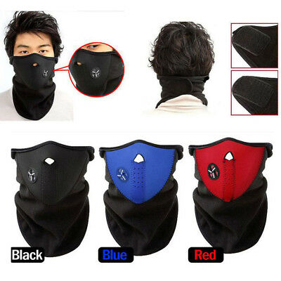 Ski Winter Half Face Mask Cover Hat Cap Motorcycle Thermal Fleece Balaclava (Half Cover Motorcycle Covers)