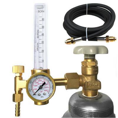 Cga-580 Argon Co2 Flow Meter Regulator Mig Tig Flowmeter Welding Gauge Hose
