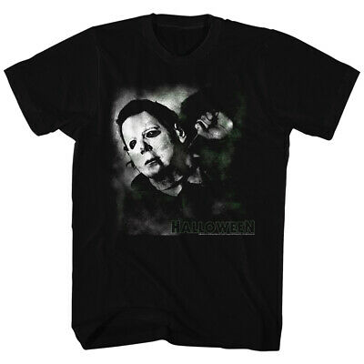 Halloween Scary Horror Slasher Movie Film Needle Cracked Logo Adult T-Shirt Tee](Halloween Movie Logo)