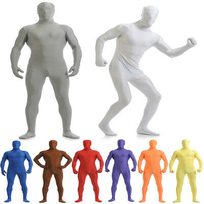 Second Skin Men's Full Body Spandex Suit Catsuit Halloween Party Zentai - Second Skin Suit Halloween