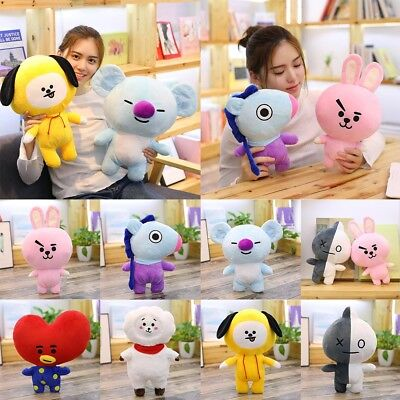 25cm KPOP BTS BT21 TATA SHOOKY Plush Toy COOKY Pillow Doll CHIMMY VAN MANG KOYA