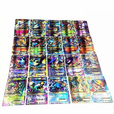 100 Pokemon Cards Lot RANDOM POKEMON CARD LOT 20 GX Mega & 80 EX Holos & Rares