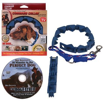 Pro Don Sullivan Perfect Dog Command Collar Training Pets Prong Choke with DVD