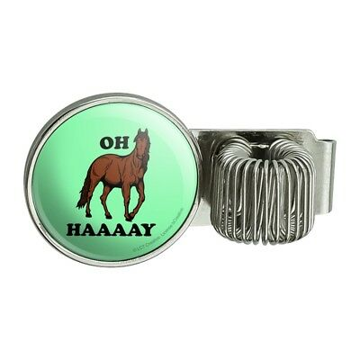Oh Haaaay Horse Hay Hey Funny Humor Pen Holder Clip for Planner Journal Book