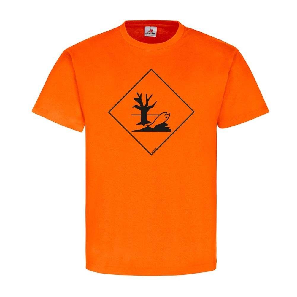 Umweltgefährlich Chemie Zeichen Logo Flamme Brand T-Shirt #23916
