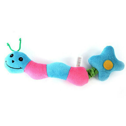Pet Dog Puppy Toy Soft Plush Squeaky Dogs Toys Knotted Rope Chew Play Fetch Bite