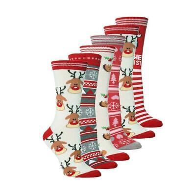 Men's Women's Festive Christmas Design Novelty Ladies Cotton Socks Xmas Gift ()