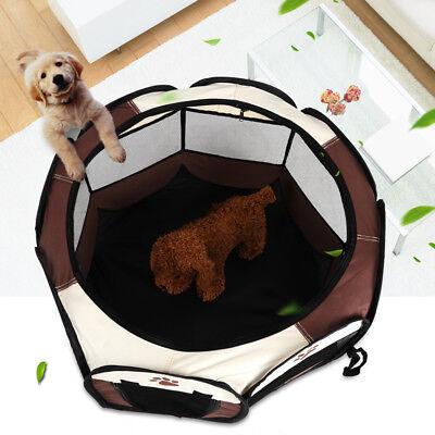 Pet Dog Cat Tent Playpen Exercise Play Pen Soft Crate Mesh Cover Indoor/Outdoor