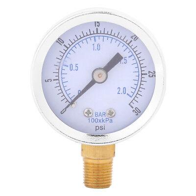 0-30psi 0-2bar Mini Dial Water Oil Compressor Meter Hydraulic Pressure Gauge Sg