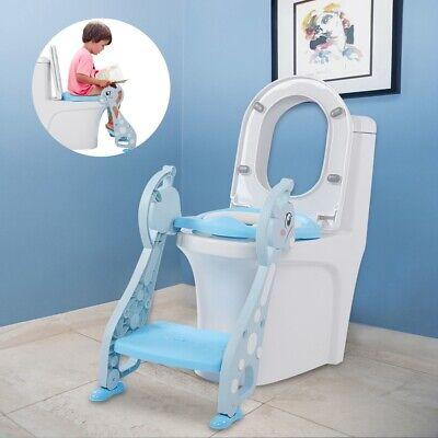Toilettentrainer mit Treppe Kinder Toilettensitz Lerntöpfchen Faltbar Leiter