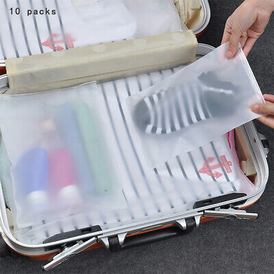 10Pcs Travel Storage Waterproof Shoes Bag Organizer Pouch Plastic Packing Bag Home & Garden