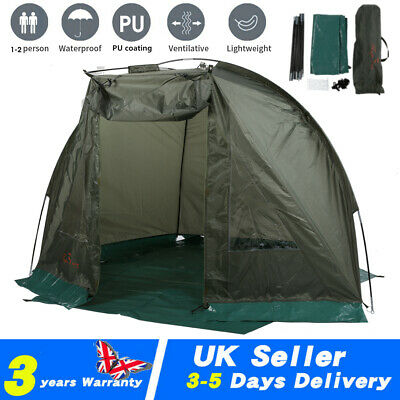 Carp Fishing Bivvy Day Tent Shelter 1-2Man Fishing Camo Bivvy Waterproof Outdoor
