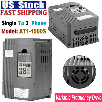 1.5kw 2hp Single To 3 Phase Variable Frequency Drive Inverter Vfd For Cnc Drives
