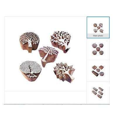 Natur Holzblock Stempel zum Drucken auf Stoff Textil Papier Ton Töpferei - Holz Ton Block