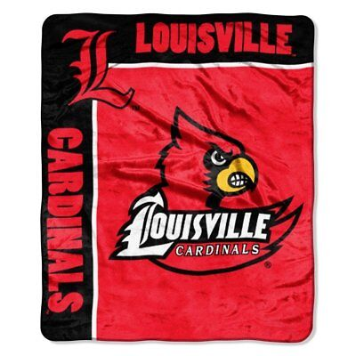 Louisville Cardinals 50x60 NCAA School Spirit Royal Plush Raschel Throw