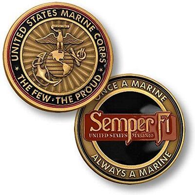NEW USMC U.S. Marine Corps Semper Fi Challenge Coin.
