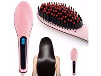 YOLEO Fast Hair Straightener Electric Ceramic Brush Comb with LCD UK PLUG.......Brand New
