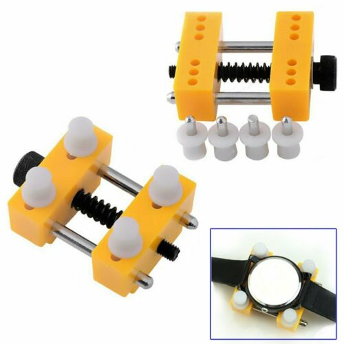 Watch Back Case Cover Opener Remover Holder Adjustable Location Repair Tool US