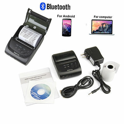 58mm Bluetooth Wireless Receipt POS Thermal Printer For ios&Android&Windows