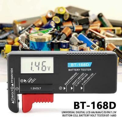 HighQ Battery Tester Volt Cell Button LCD Digital for AA/AAA/C/D/1.5V/9V AP