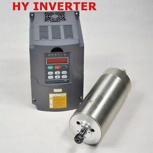 CNC MILLING HY WATER COOLED 2.2KW SPINDLE MOTOR AND DRIVE INVERTER VFD ER20 80MM