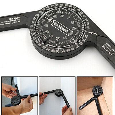 Rustproof Aluminum Miter Saw Protractor Angle Finder Measuring Ruler Gauge Wood.