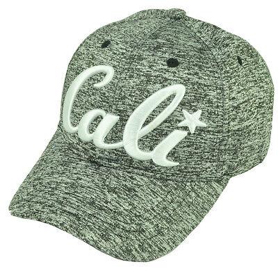 California Republic 3D Logo Hut Kappe Gebogen Bill Verstellbar Athletic Asche