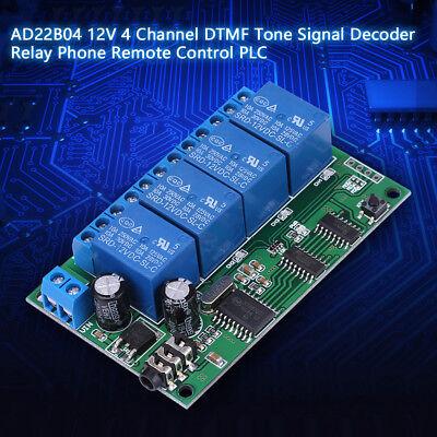 AD22B04 12V 4CH MT8870 DTMF Tone Signal Decoder Relais Modul Relay Dtmf Tone Decoder