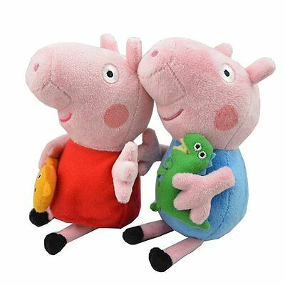 Peppa Pig Kids Boy George And Girl Peppa 2Pc 19Cm W  Keychain  Usa
