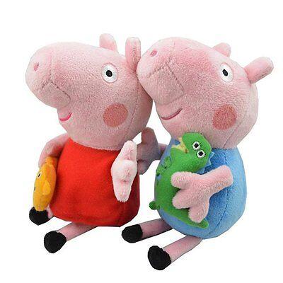 Peppa Pig Kids Boy George And Girl Peppa 2Pc 19Cm W  Keychain  Usa