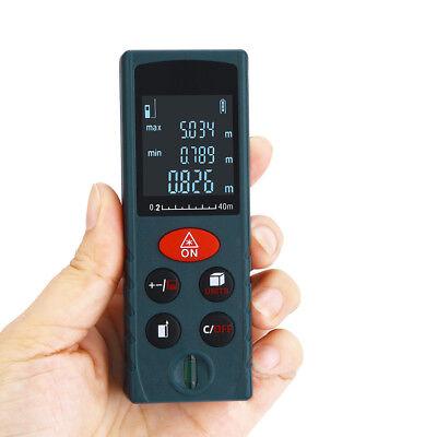 New Blue Handheld 40m Laser Distance Meter Range Finder Measure Diastimeter