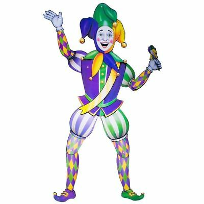 Jointed Jester Cutout Mardi Gras Decoration Cut Out ()