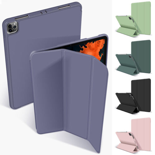 "Smart Silicone Flip Case For iPad Pro 11"" 12.9"" 2020 Cover With Pencil Holder Cases, Covers, Keyboard Folios"