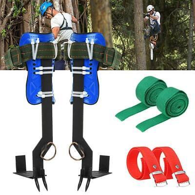 2 Gears Treepole Climbing Spike Set Both Sides Safety Belt Lanyard Rope Tool